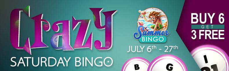 Crazy Saturday Bingo