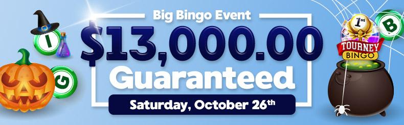Guaranteed Big Bingo Event