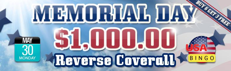 Memorial Day Reverse Coveralls