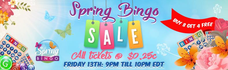 Spring Bingo Sale