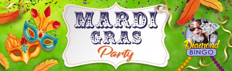 Mardi Gras Bingo Party