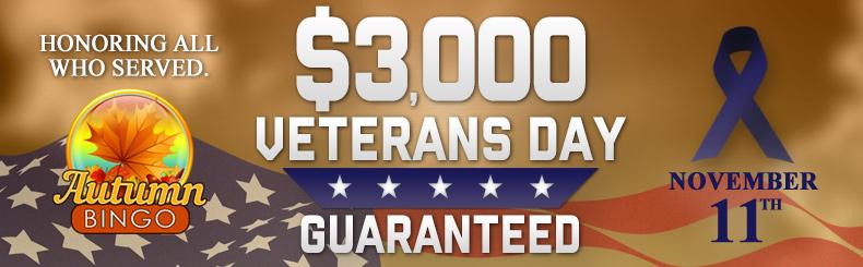 Veteran's Day Guaranteed