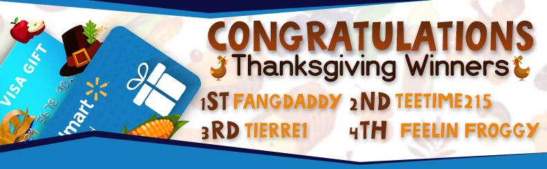Thanksgiving Winners