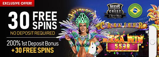 VegasCrestCasino Brasil exclusive offer