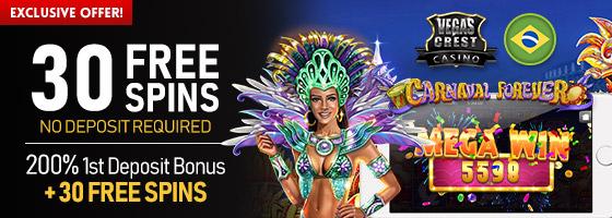 Vegas Crest Casino Brasil Exclsuive Offer