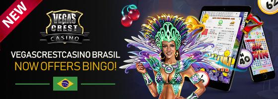 Vegas Crest Casino Brasil now offers BINGO!