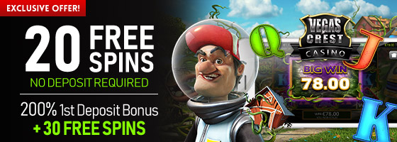 Vegas Crest Casino Exclsuive Offer
