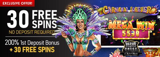Vegas Crest Casino Brasil Exclusive Offer
