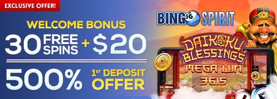 BingoSpirit Exclusive Offer