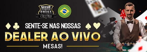 VegasCrestCasino Brasil NEW Live Dealer