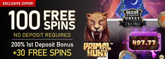 Vegas Crest Casino Exclusive Offer