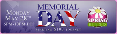Memorial Day Starting $100 Tourney