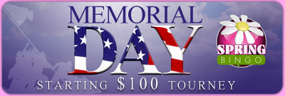 Memorial Day Starting $100 Tourney