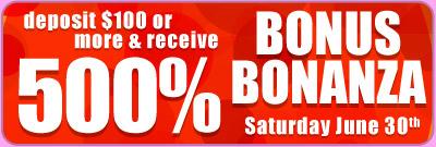 500% Bonus Bonanza