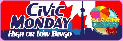 Civic Monday High or Low Bingo