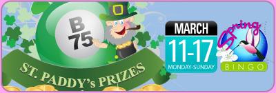 St Paddys Prizes Tournament